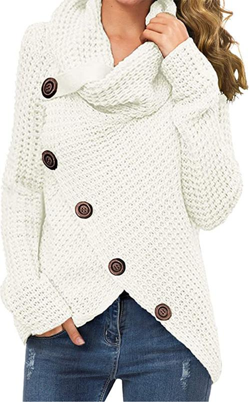 Grecerelle Chunky Button Sweater