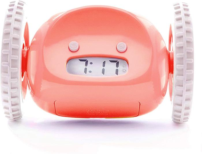 Run Away Alarm Clock On Wheels