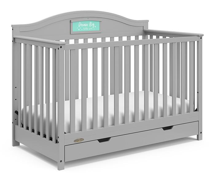 Graco Story Customizable 5-in-1 Convertible Crib with Drawer