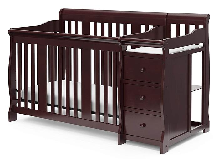 Storkcraft 4-in-1 Convertible Crib and Changer