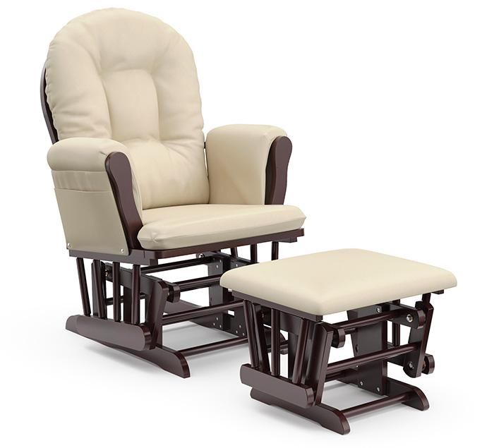 Storkcraft Bowback Glider and Ottoman